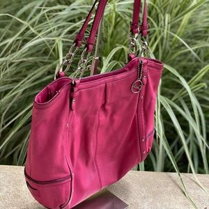 Coach Alexandra Hot Pink Leather Tote
